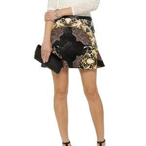 W118 by Walter Baker Flounce Mini Skirt Small